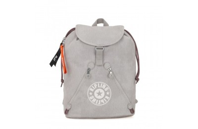 Kipling FUNDAMENTAL Mochila grande de tejido coloreable Light Denim Acuerdo